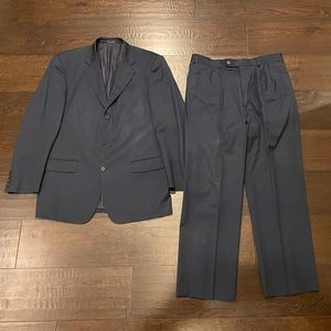 Other - Men's Black Italian Navy Suit Tailored by Naldini
